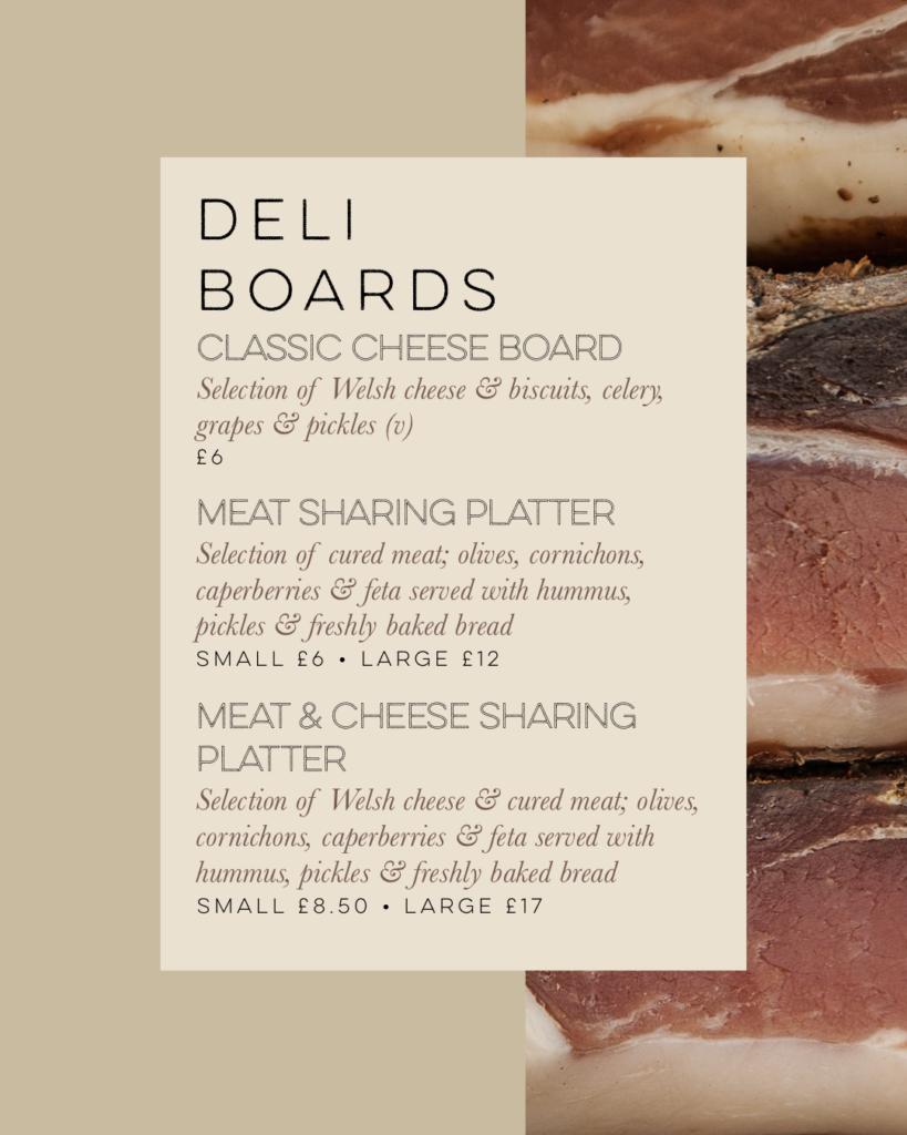 takeaway deli boards