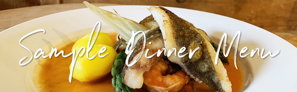 Sample Dinner Menu Angel Inn